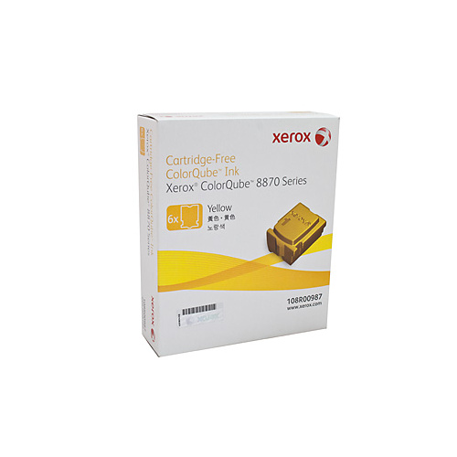 Xerox CQ8870 Yellow Ink Sticks - 6 pack = 17300 pages