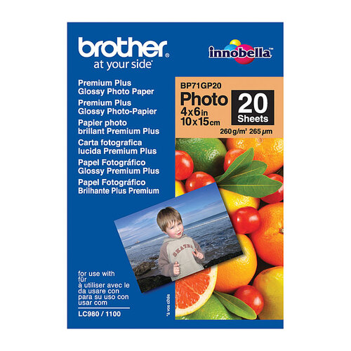 Brother BP71GP20 Glossy Paper - 20 Sheets