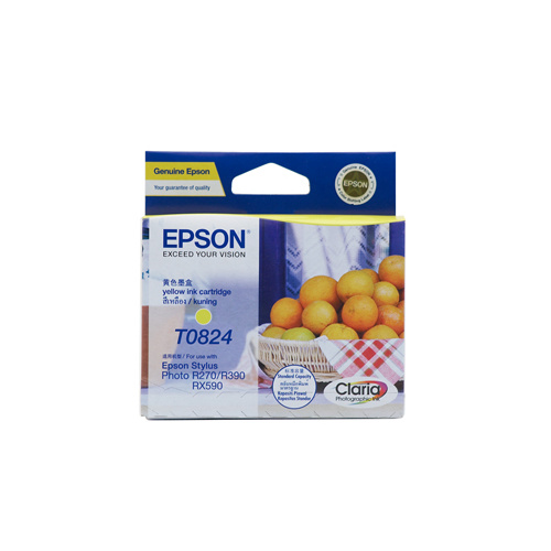 Epson T1124 (82N) Yellow Ink Cartridge (replaces T0824) - 510 pages