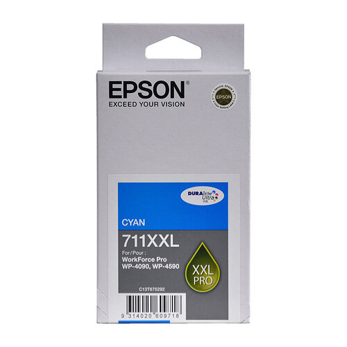 Epson 711XXL Cyan Ink Cartridge - 3400 pages