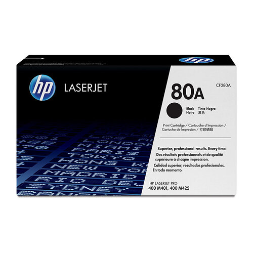 HP # 80A Black Toner - 2700 pages