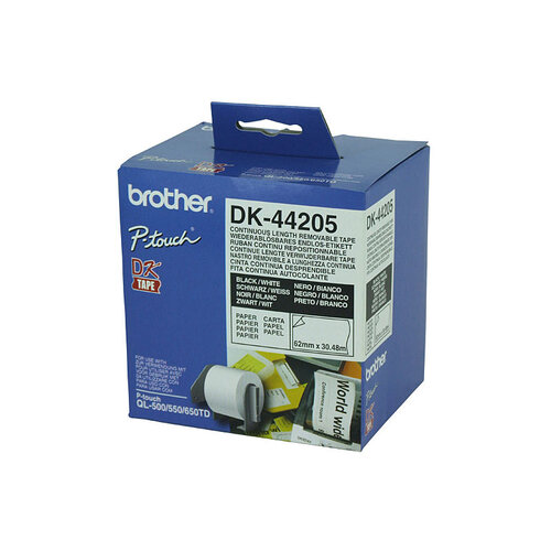 Brother DK44205 White Roll - 30.48 Meters