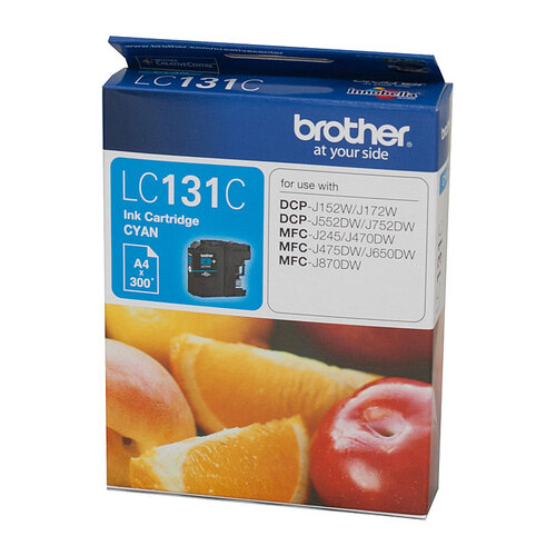 Brother LC-131 Cyan Ink Cartridge - up to 300 pages