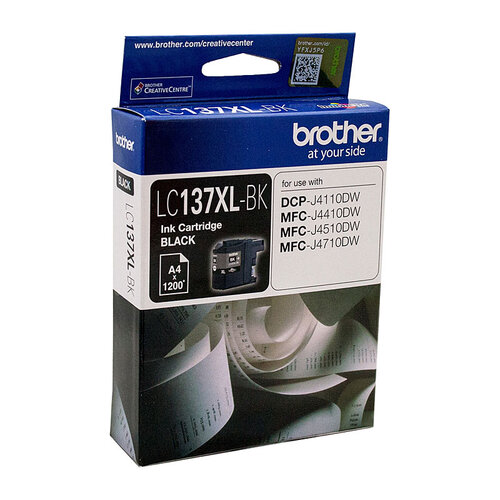 Brother LC-137XL Black Ink Cartridge - up to 1200 pages