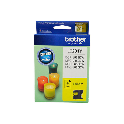 Brother LC-231 Yellow Ink Cartridge - Up to 260 pages