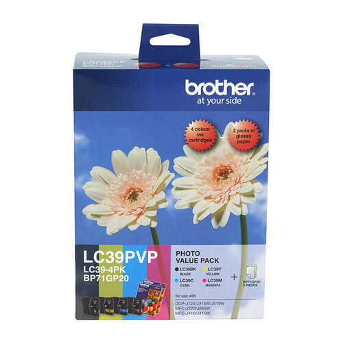 Brother LC39 Photo Value Pack - refer to singles