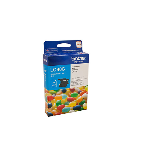 Brother LC-40C Cyan Ink Cartridge - 300 pages