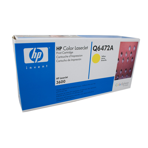 HP #502A Yellow Toner Cartridge - 4000 pages