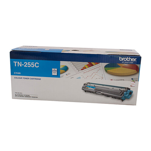 Brother TN-255 Cyan Toner Cartridge - 2200 pages