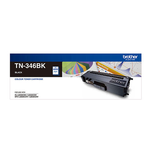Brother TN-346 Black Toner Cartridge - 4000 pages